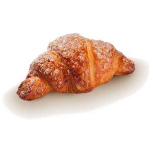 Mini croissant con impasto alla margarina e ripieni di farcitura all'albicocca