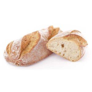 Ciabattina con mollica alveolata grazie alla grande idratazione e crosta croccante.