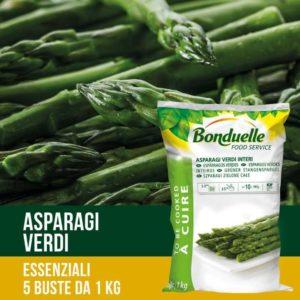 Turioni di asparagi verdi