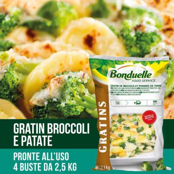Gratin di patate con broccoli e salsa per amalgamare