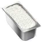 Vaschetta di gelato mantecato al gusto di limone. Vaschetta grande.