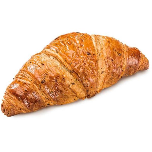 Croissant vuoto con pasta leggermente salata