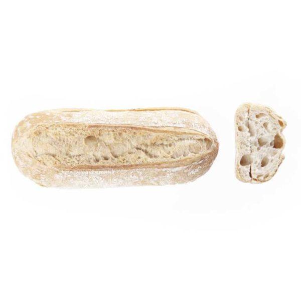 Tutta la comodità e bontà della ciabattina di grano tenero pretagliata in una versione più abbondante. Pretagliata