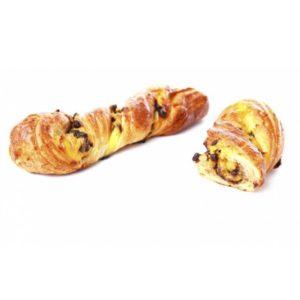 Tutta la maestria della pasticceria francese concentrata in una treccia sfogliata al burro con crema pasticcera e pepite di cioccolato.