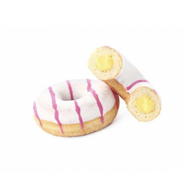Il classico donut americano ripieno di una gustosissima farcitura alla crema.