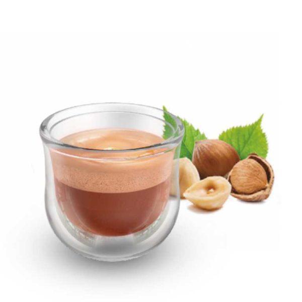 Il gusto cremoso e intenso del caffè congiunto alla tipica fragranza della nocciola