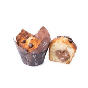 Il cioccolato più buono incontra le pere in un sofficissimo muffin tutto da mordere.