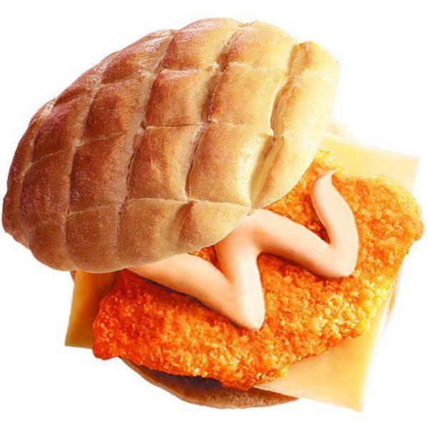 Pane tartaruga con cotoletta di pollo