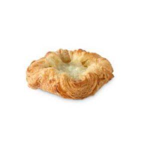 Sfoglia nella sua forma circolare con ripieno di crema pasticcera alla mela