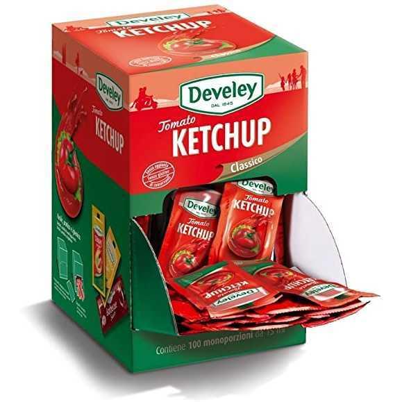 Bustine di Ketchupprodotto con un'elevata percentuale dipomodori di primissima qualità lasciati maturare al sole.