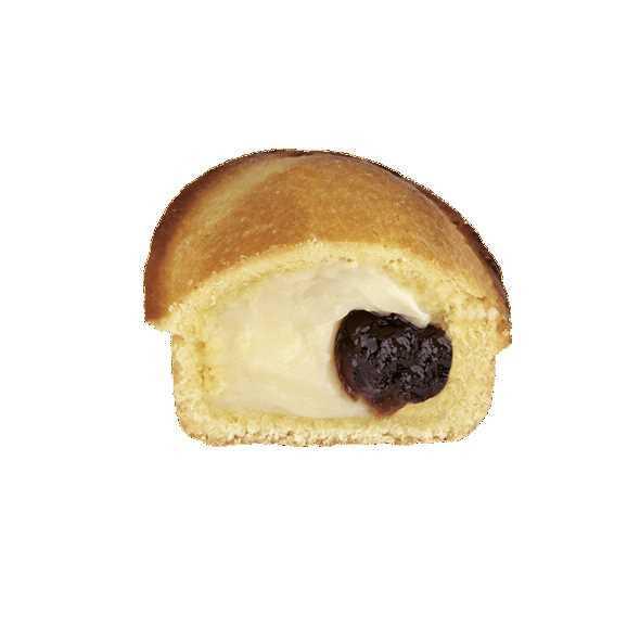 Pasta frolla farcita con crema pasticcera e confettura di amarene