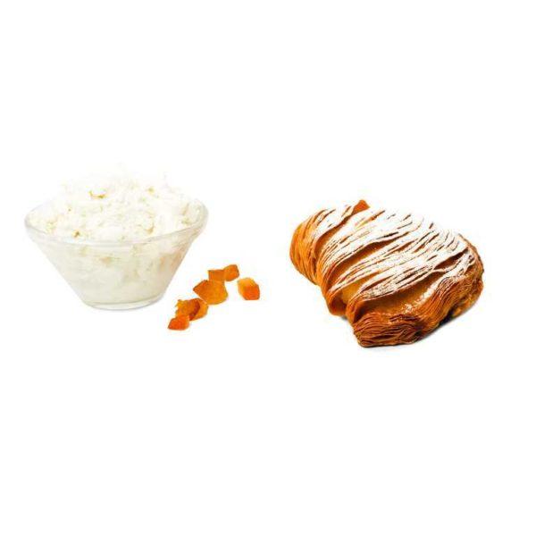 Tradizionale sfogliatella napoletana con farcitura di canditi e cubetti all'arancia