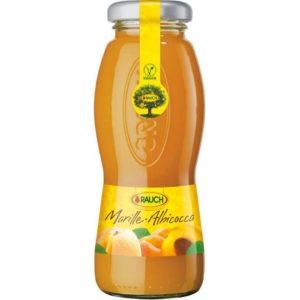 Bottiglia di succo di Albicocca 100%. Prodotto senza glutine. Prodotto vegano.