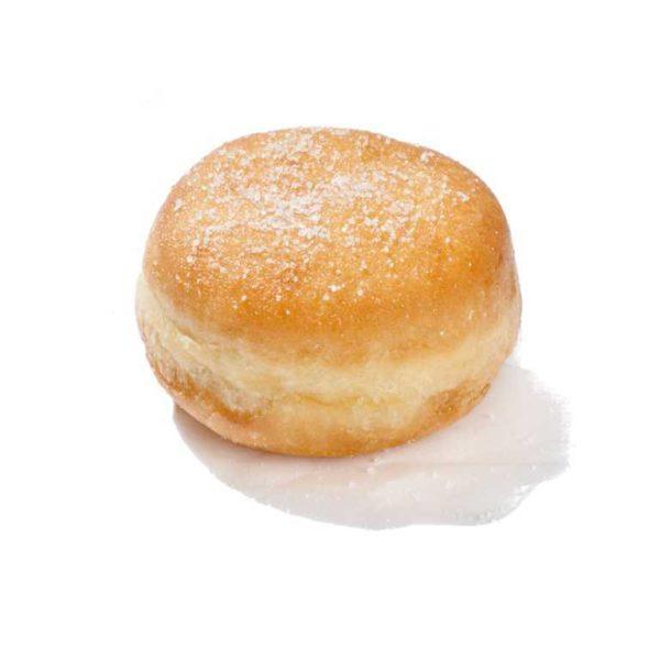 Mini krapfen alla crema pasticcera con topping di zuchero