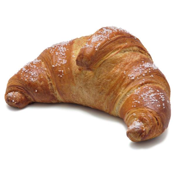 Croissant vuoto guarnito con granella di zucchero
