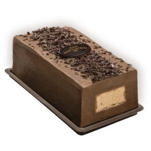 Un gustoso strato di Gelato al Cioccolato Fondente 70% avvolge un cuore di Gelato al Caffè 100% Arabica.
