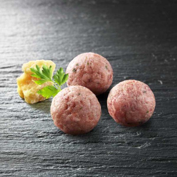 Polpette di carne di carne trita di bovino adulto di razza Fassona Piemontese. Senza Glutine.