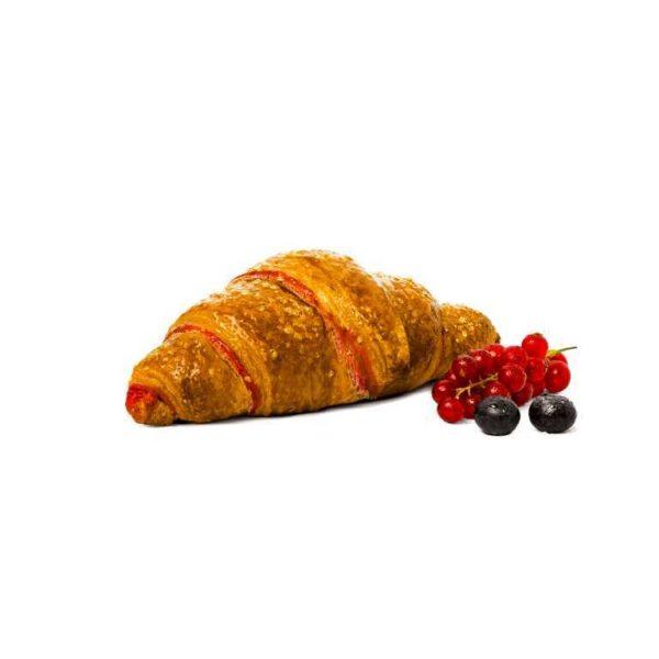 Croissant bicolore realizzato con lievito madre fresco