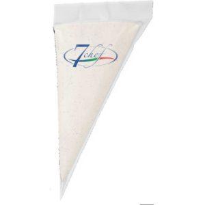 Sac a poche con cioccolato bianco. Ideale per farcitura di croissanteria o dolci.