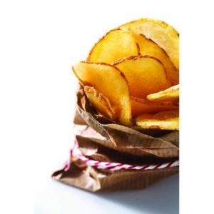 Patata a taglio chips con pelle. Senza glutine.