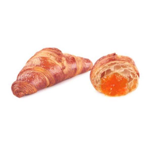 L'Italia incontra la Francia in questi 70 grammi di connubio perfetto: il gusto classico della confettura all'albicocca racchiuso nella delicata sfoglia al burro del croissant francese.
