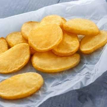 Fette di patata prefritte