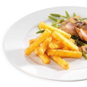 Croccanti stick a forma di finissimi rösti di patate. I bastoncini di rösti 11er sono perfetti per intingoli e spuntini. Senza glutine e senza lattosio.