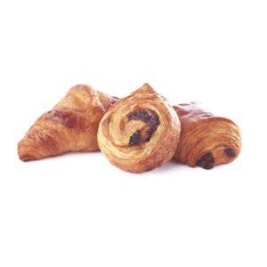 I tre pilastri della viennoiserie francese con sfoglia al burro in versione mini: mini croissant