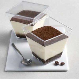 Crema al mascarpone e pandi Spagna gluten free con inzuppatura al caffè.