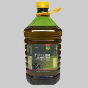 Olio extravergine d'oliva in flaconi PET.