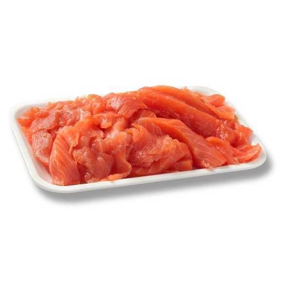 Ritagli di salmone affumicato