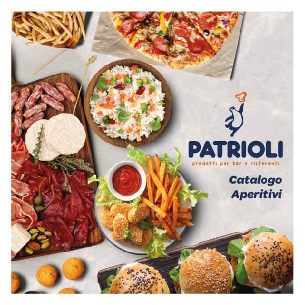 Copertina catalogo aperitivi Patrioli