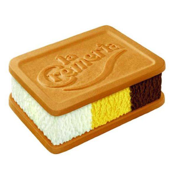 Croccante biscotto al malto e miele farcito con panna