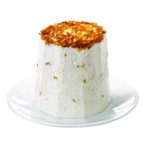 Gelato semifreddo al torroncino con granella di nocciola. La sua tipica consistenza lo rende perfetto per qualsiasi occasione. L'aggiunta di granella di torroncino