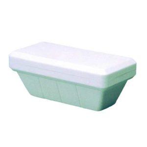 Vaschetta di polistirolo per gelato da 750cc. Dimensioni: 20.5x12x7.5 cm.