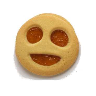 Biscottoni di frolla a forma di smile