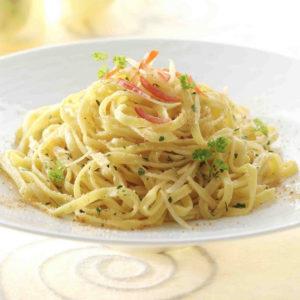 Tagliolini di pasta fresca. Il peso è riferito al singolo nido.