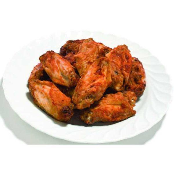 Alette di pollo già cotte e leggermente piccanti.