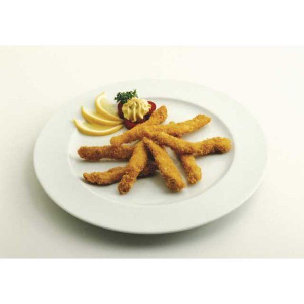 Qualcosa di buono da accompagnare a un'insalata croccante? Le Chicken Frites sono l'abbinamento perfetto per l'insalata fresca. Anche con le patate fritte le strisce di petto di pollo