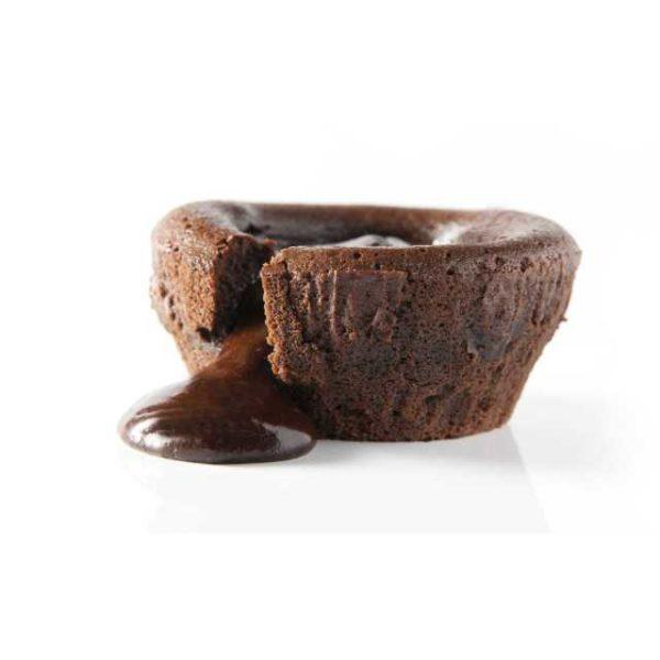Soufflè al cioccolato con cuore caldo di cioccolato fondente.