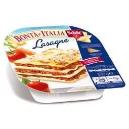 Lasagne senza glutine con ragù di carne bovina e besciamella.