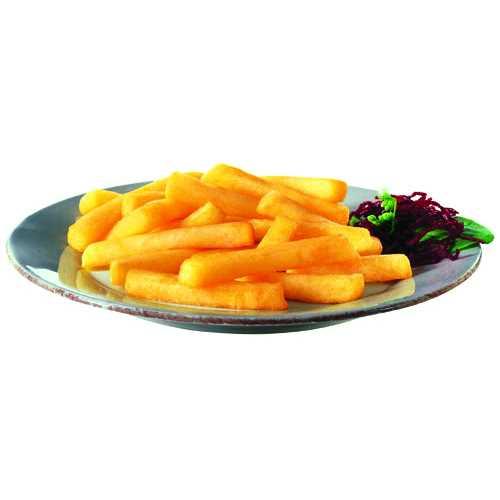 Patatine fritte lunghe di un invitante colore dorato e deliziosa consistenza croccante. Taglio stick di dimensione 10x10mm.