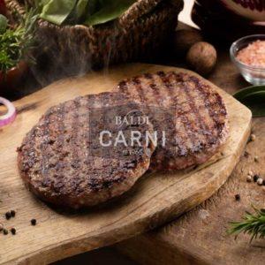 Hamburger realizzati con pregiati tagli di Angus Irlanda allevato allo stato brado in Irlanda. Può essere cucinato su griglia