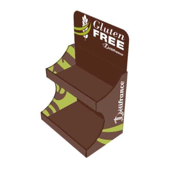Espositore in cartone per i prodotti Delifrance Gluten Free