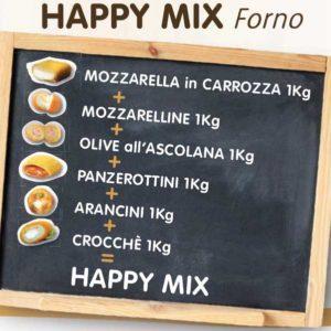 Mix composto da mozzarella in carrozza