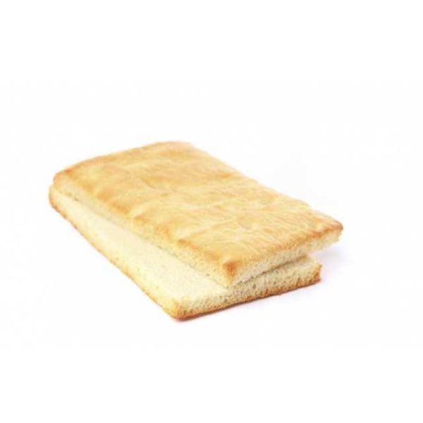 Pratica e comoda versione di focaccia classica già pretagliata per semplificare la creazione di sfiziosi sandwich. Dimensioni 15x10 cm