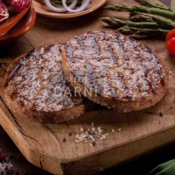 Hamburger di carne bovina selezionata