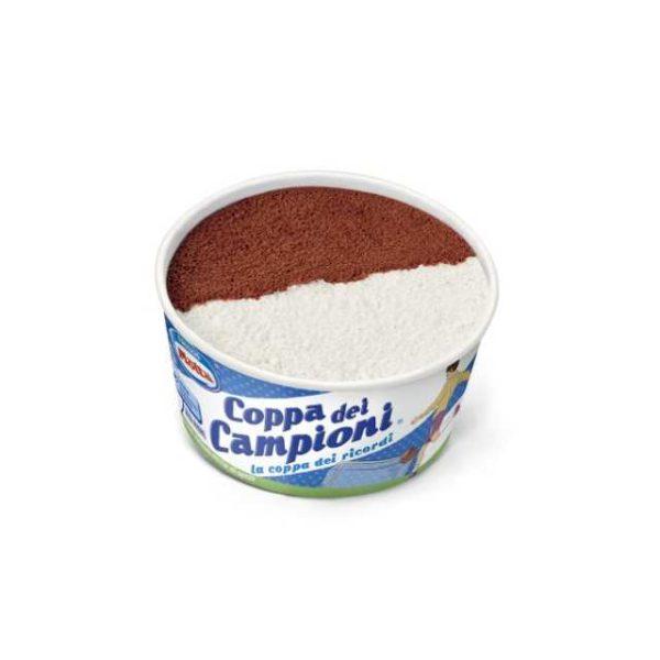 Gelato alla vaniglia e al cacao. Ideale per bambini. Senza glutine.