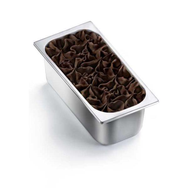 Antica Gelateria del Corso utilizza Cioccolato Fondente Extra 70% Perugina con Cacao UTZ per realizzare un sorbetto vegan leggero e rinfrescante. Vaschetta grande.