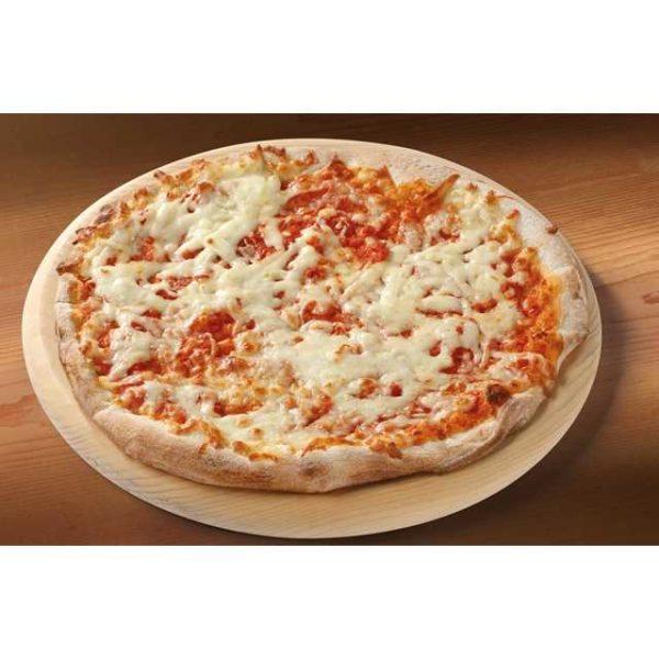 Pizza margherita tonda con mozzarella. Diametro 28 cm.